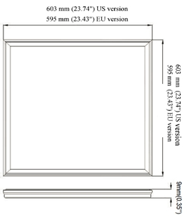40W 2x2ft 595x595 600 X 600 Dimmable LED panel light , LED Square Panel Light