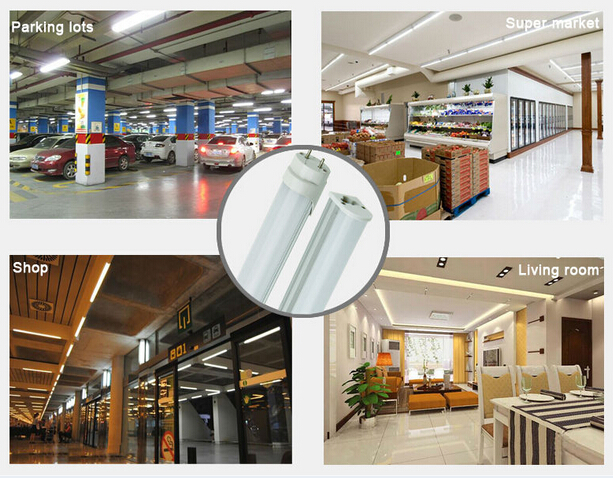 0.3M-3M Lenght T10 / T8 LED tube light 5W-50W  AC90-265/277V input for Home