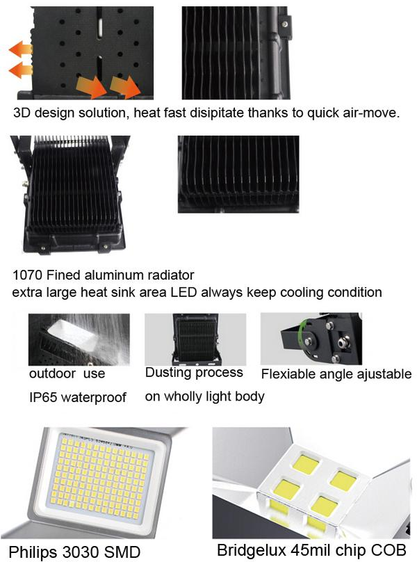 High Power 100w External LED flood Light with  LED chip 3 years warranty