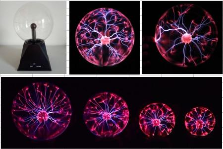 Tabletop Decoration Sound Active 3 Inch Plasma Ball With Battery For Festival Gift