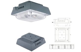 China IP65 Square 80W Led Canopy light Retrofit for gas station with CREE LED Chip supplier