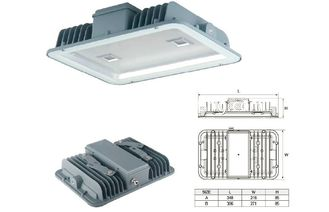 China Recessed led canopy lights for gas station , high power led floodlight supplier